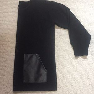 J CREW leather trimmed sweater